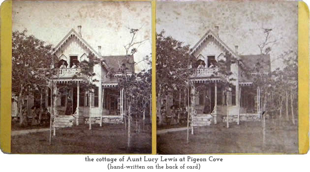cottage of Aunt Lucy Lewis