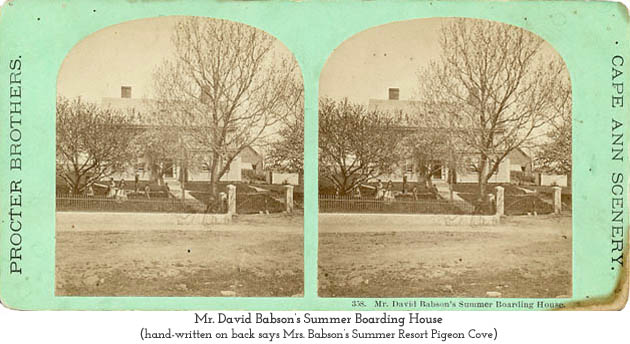 Mr. David Babson's Boarding House