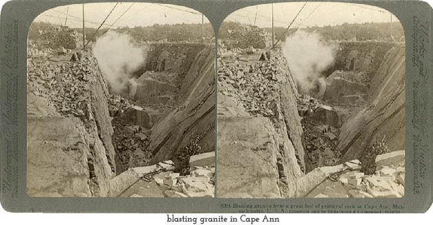 blasting granite in Cape Ann